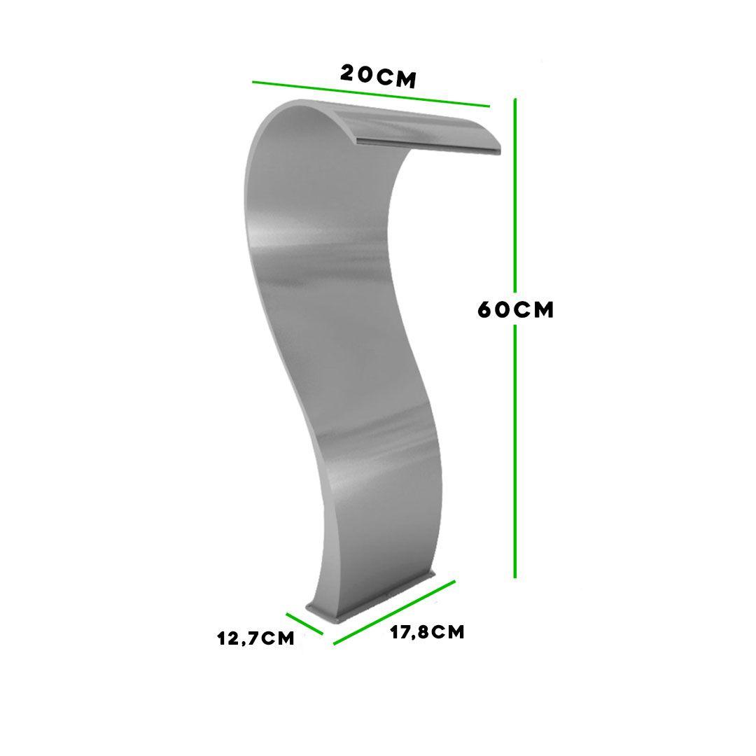 Cascata Piscina Inox Naja 60cm