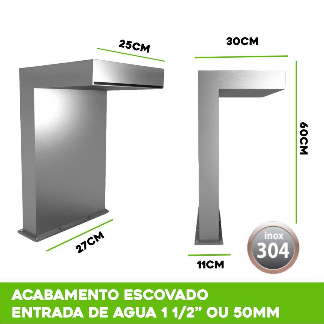 Cascata Piscina Inox Premium Line 60x25cm