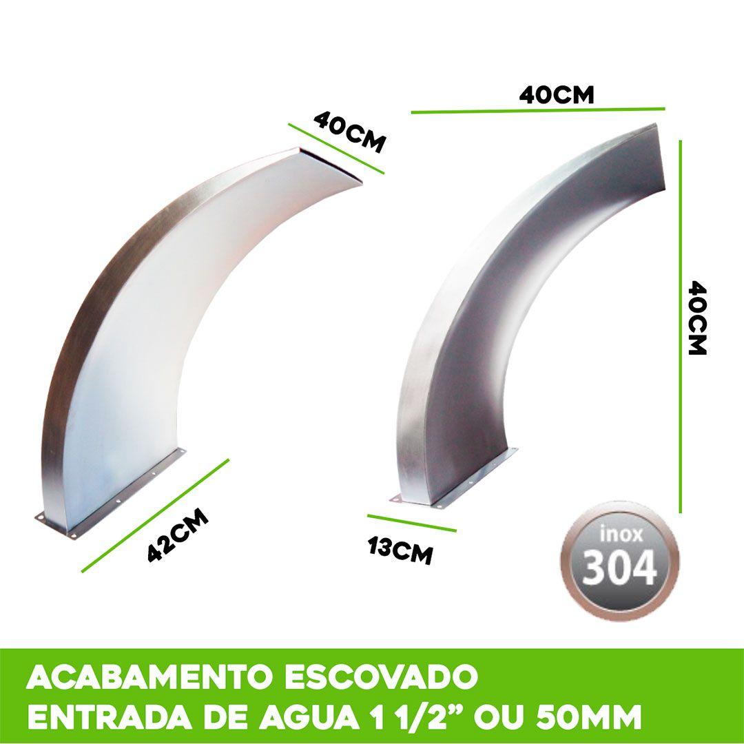 Cascata Piscina Inox Wave 40x40cm