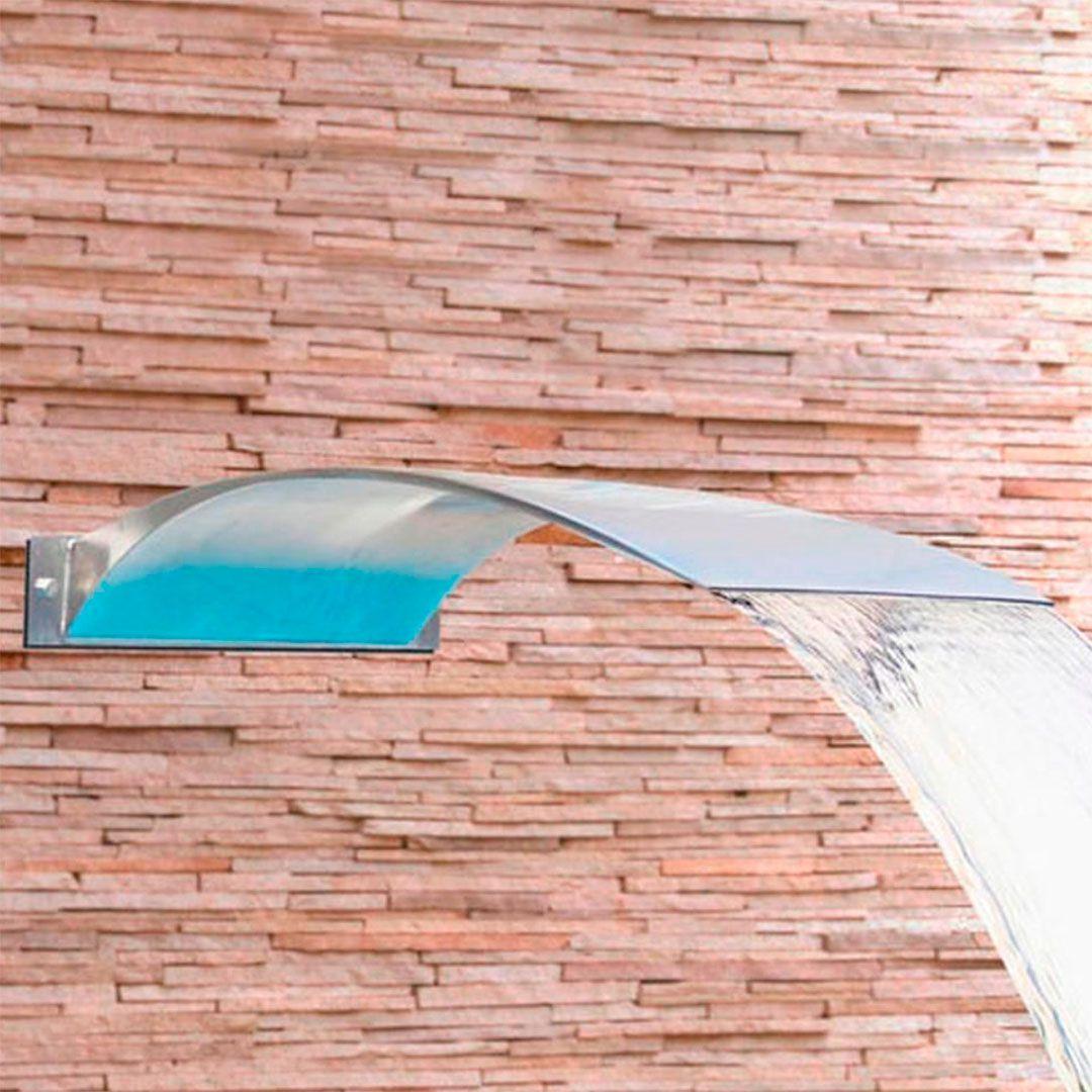 Cascata Piscina Inox Wave Wall 50x40cm