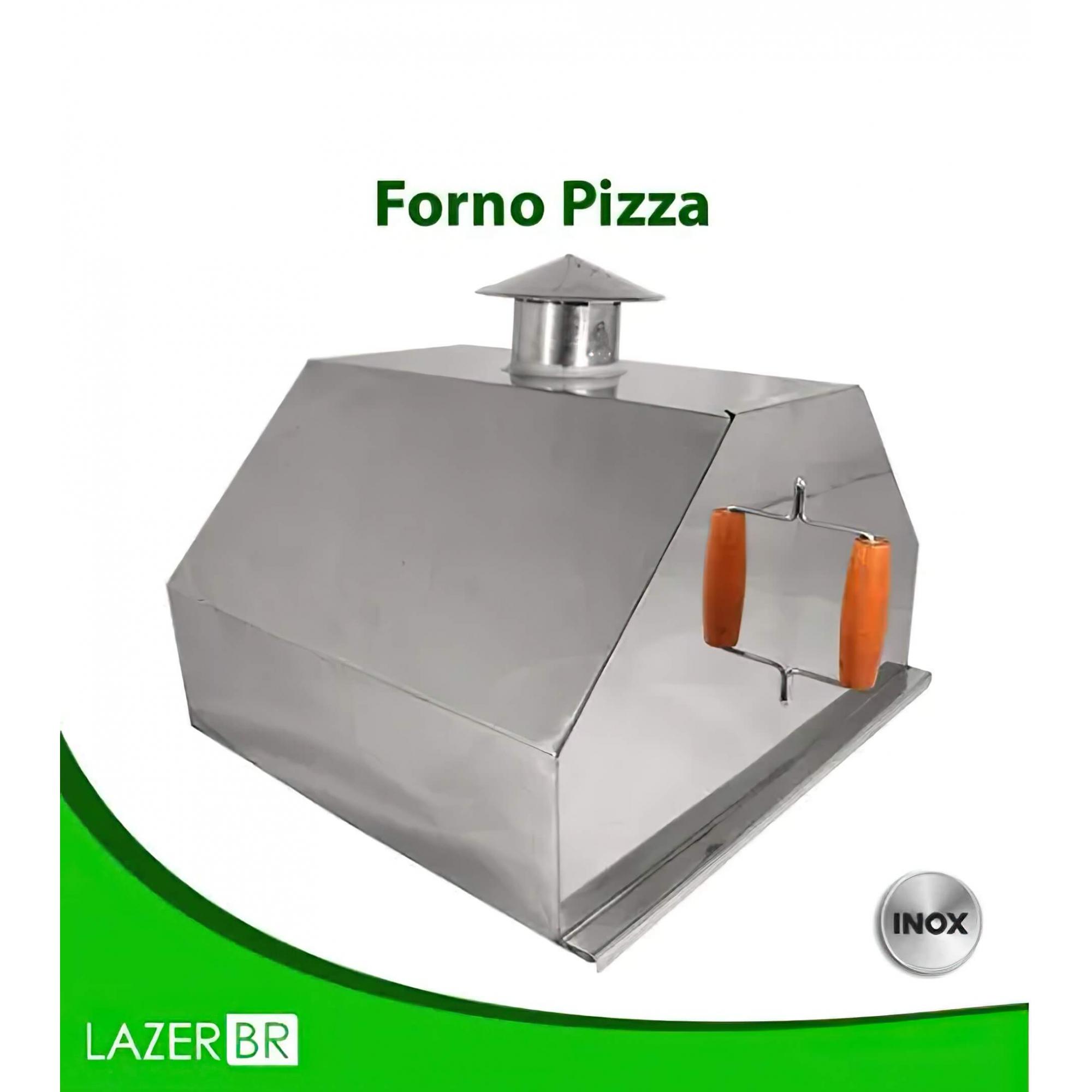 Forno de Pizza para Churrasqueira ou Braseiro Inox