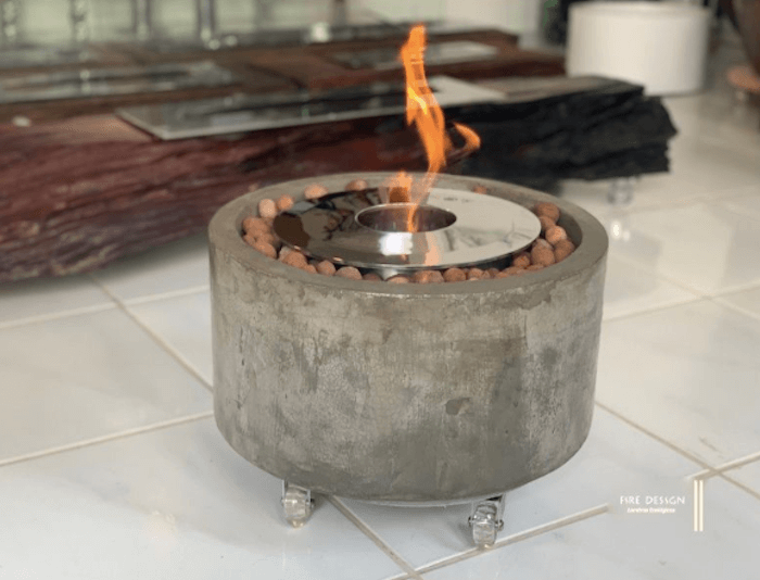 Lareira Ecológica Inox Redonda a álcool etanol