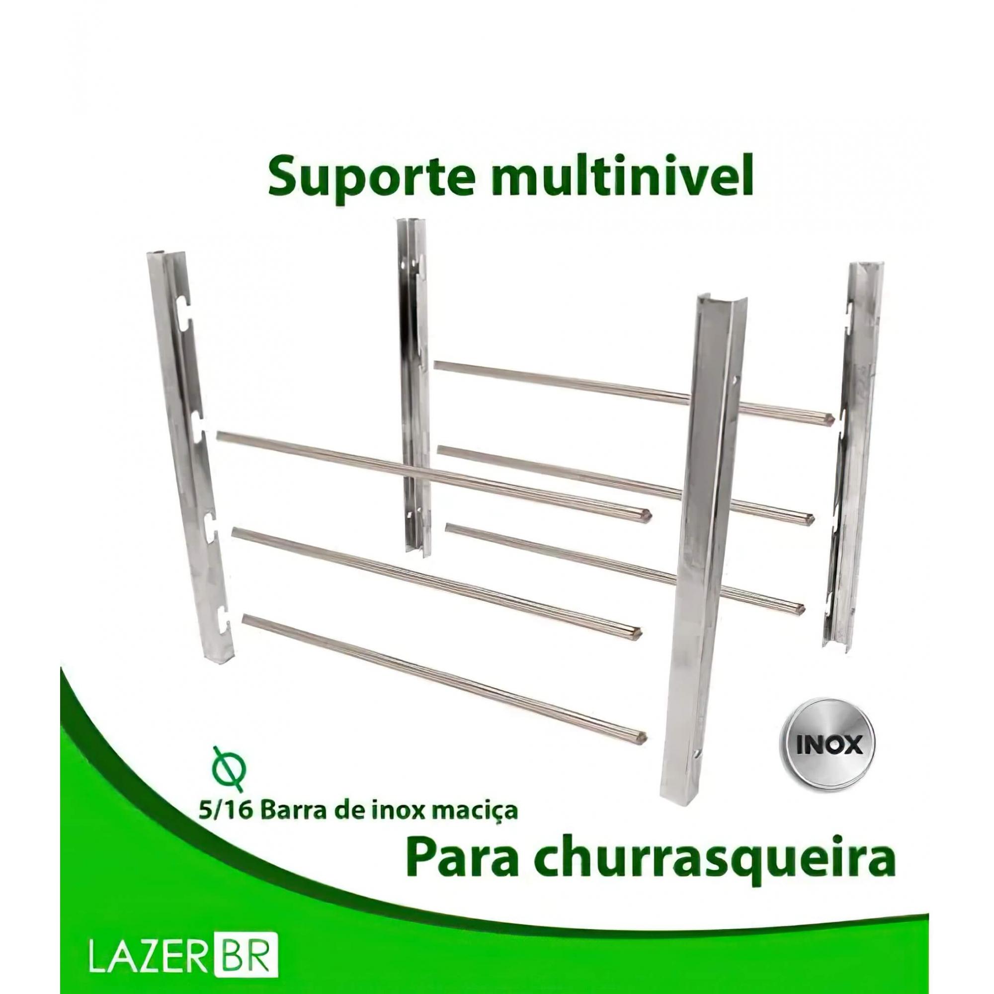 Suporte Multinível para Churrasqueira Barra Maciça 5/16