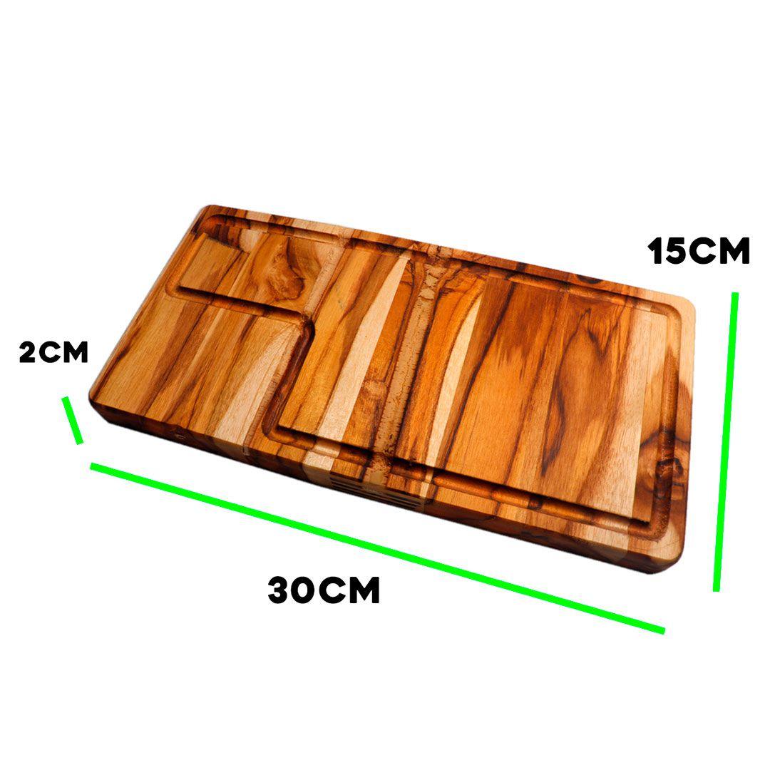 Tábua de Carne para Churrasco Teca 30x15x2cm
