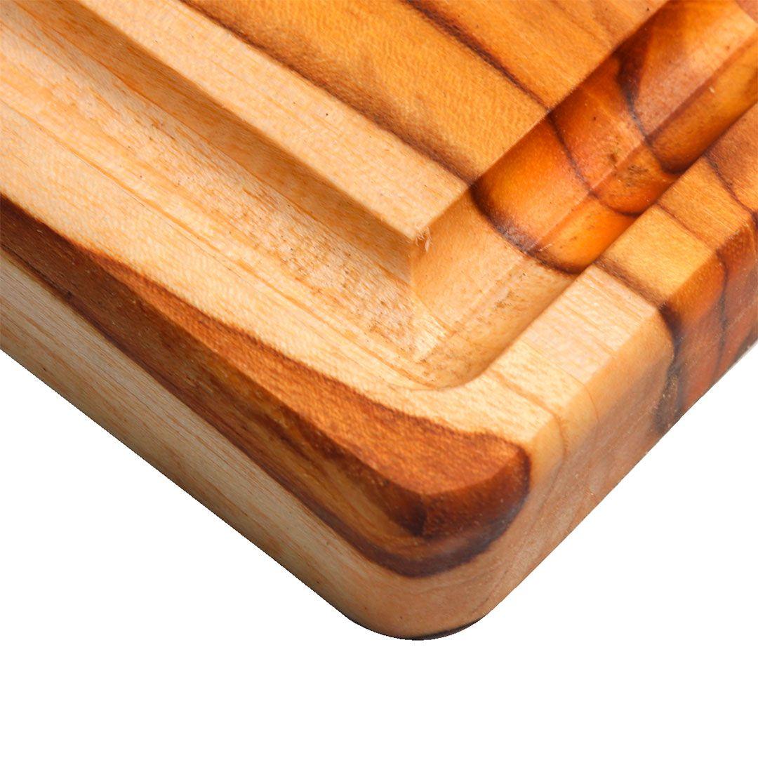 Tábua de Carne para Churrasco Teca 35x35x2cm