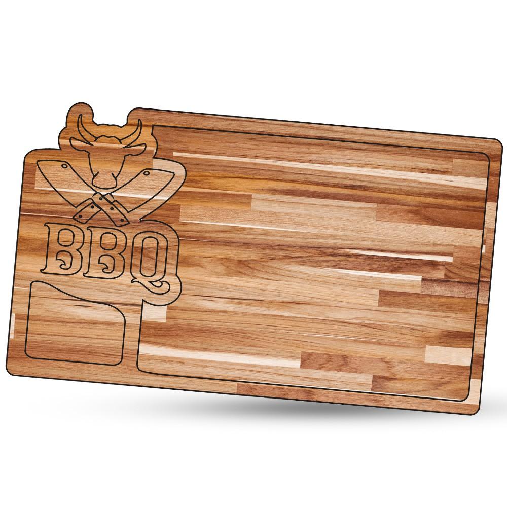Tábua de Carne para Churrasco Teca BBQ 10