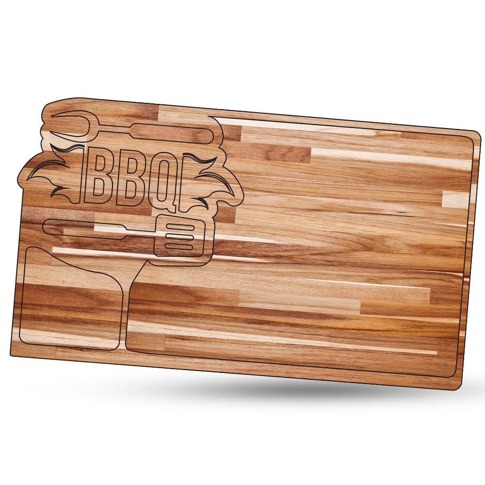 Tábua de Carne para Churrasco Teca BBQ 4