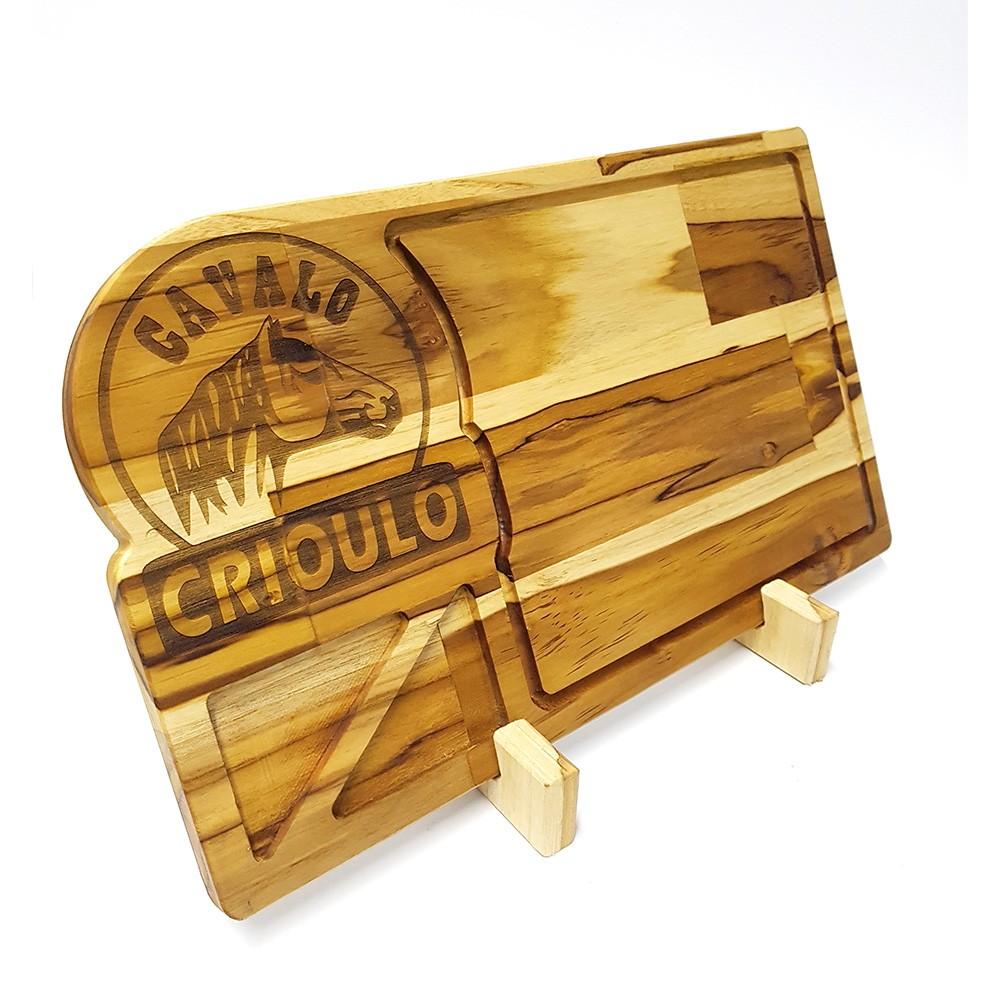 Tábua de Carne para Churrasco Teca Cavalo Crioulo