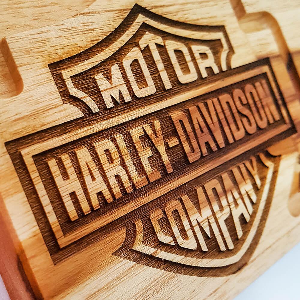 Tábua de Carne para Churrasco Teca Harley