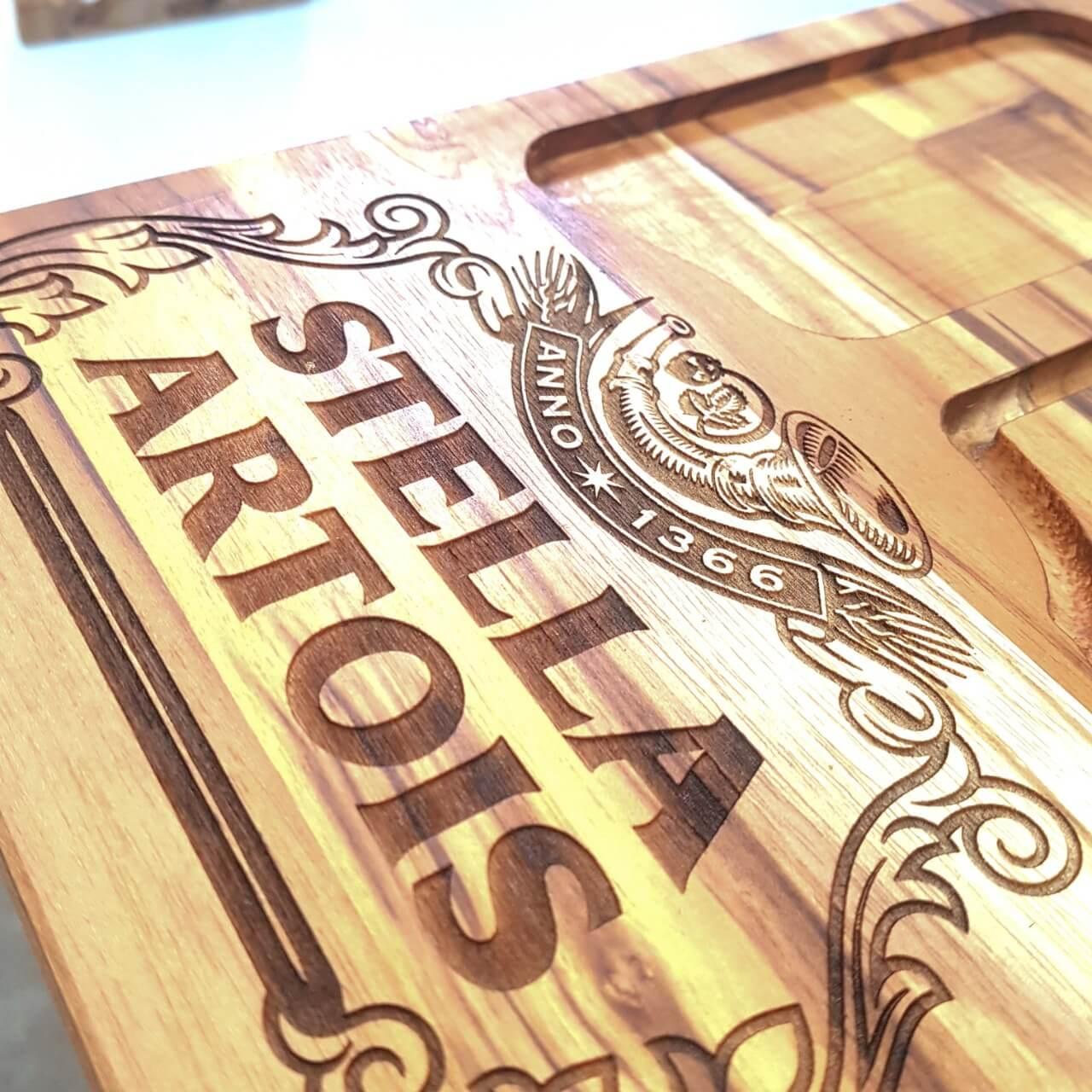 Tábua de Carne para Churrasco Teca Stella Artois