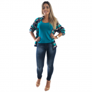 Camisa Feminina Xadrez #034