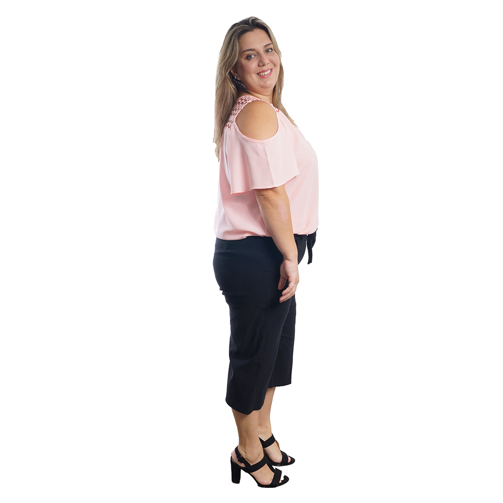 Blusa feminina Costas Renda Plus Size #120