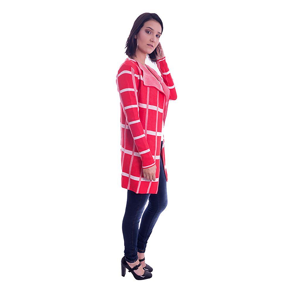 Casaco Kimono Xadrez Laranja #055