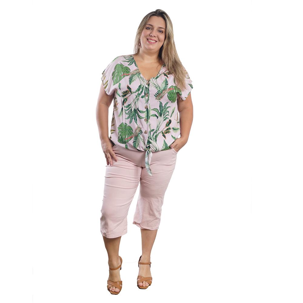 Conjunto Feminino Plus Size Pantacourt #105