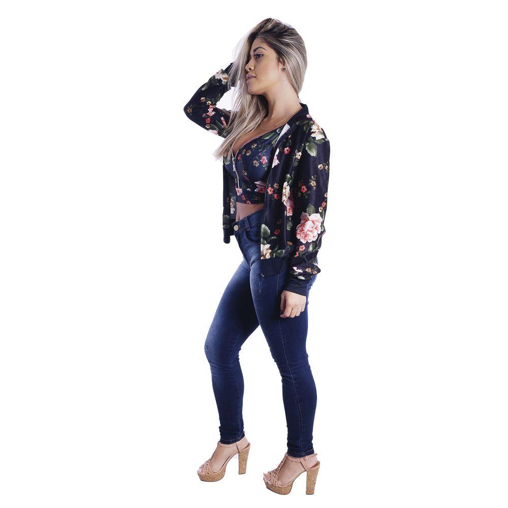 Jaqueta Bomber Floral #052