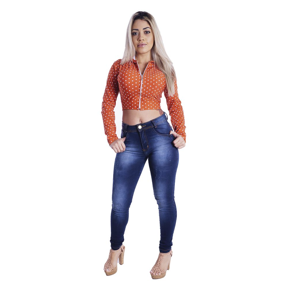 Jaquetinha Cropped Bomber #053