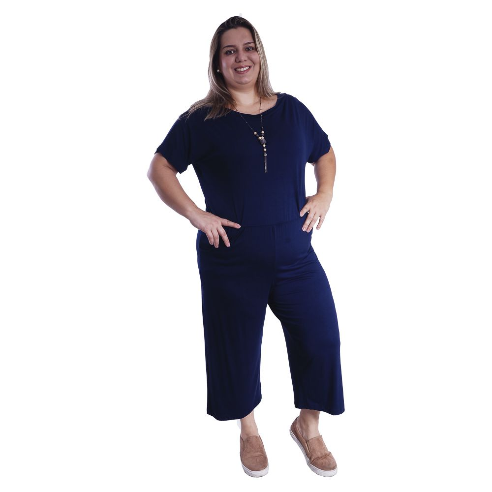 Macacão Feminino Plus Size #090