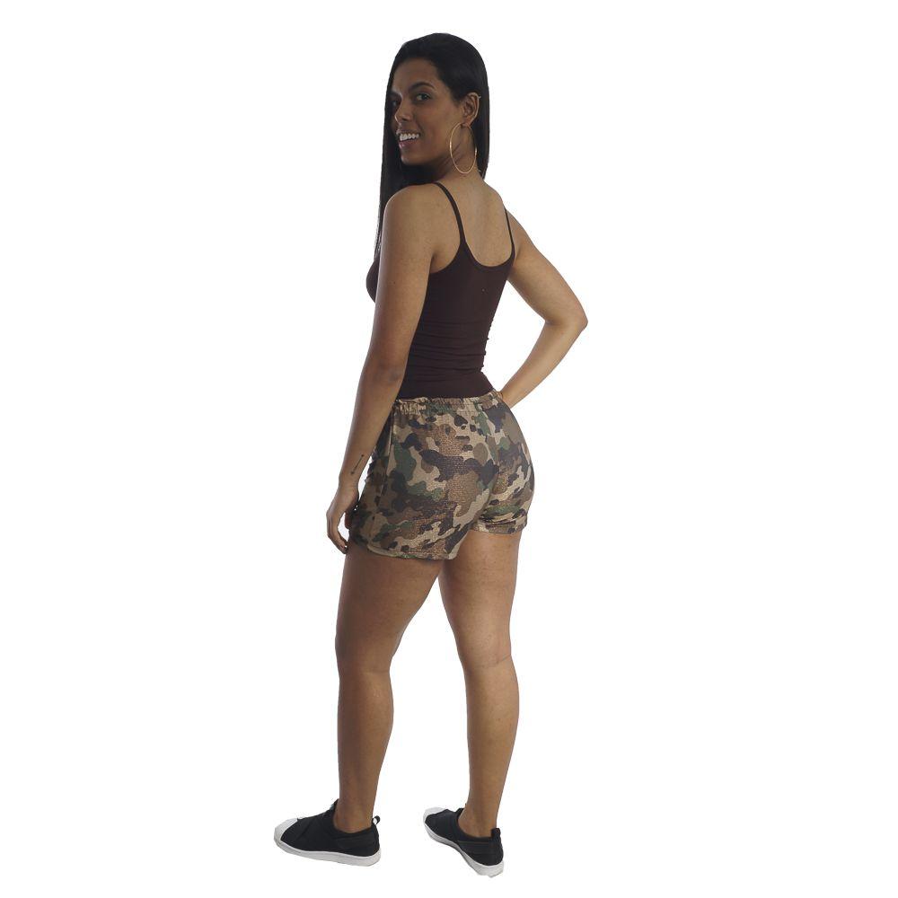Shorts Feminino Curto Camuflado #110