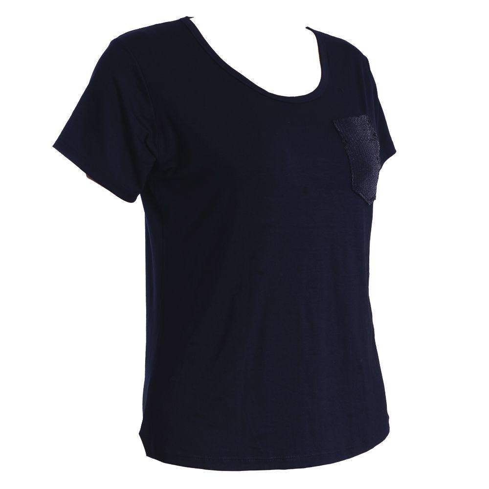T-shirt Bolso Lantejoula Brilho Plus Size #092