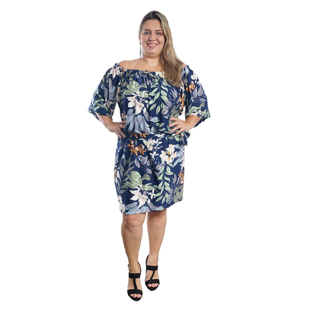 Vestido Ciganinha Plus Size #096