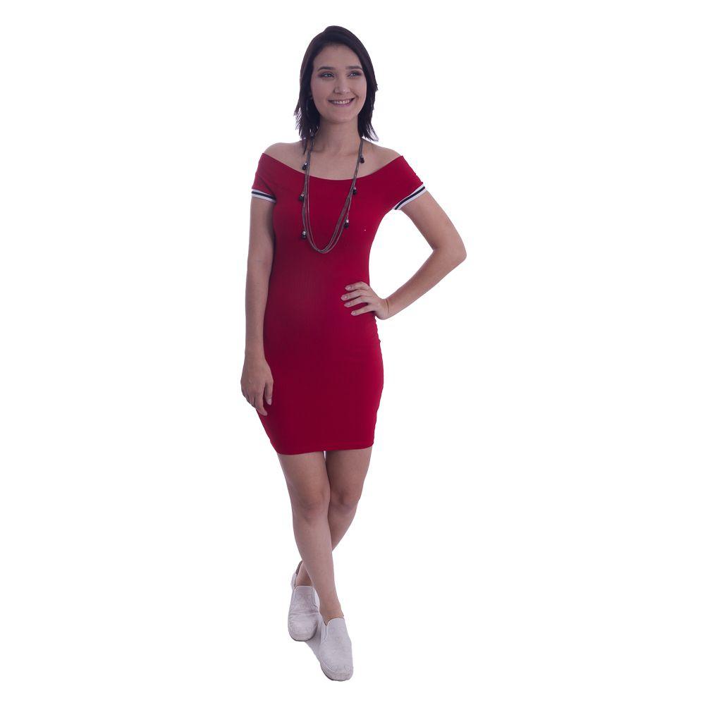Vestido Curto Canelado  #084