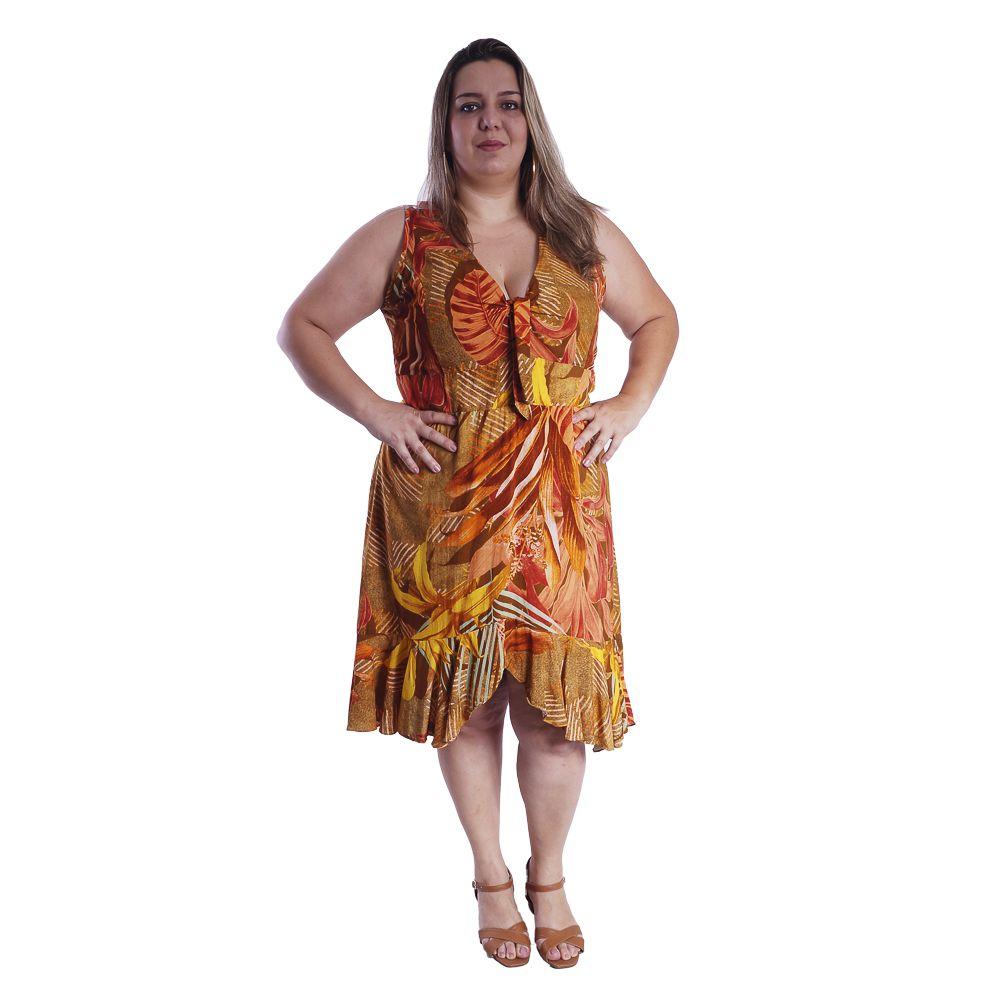 Vestido Feminino Babado  Plus Size #091