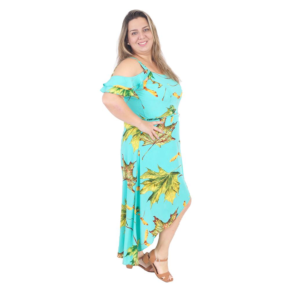 Vestido Mullet Assimétrico Plus Size #125