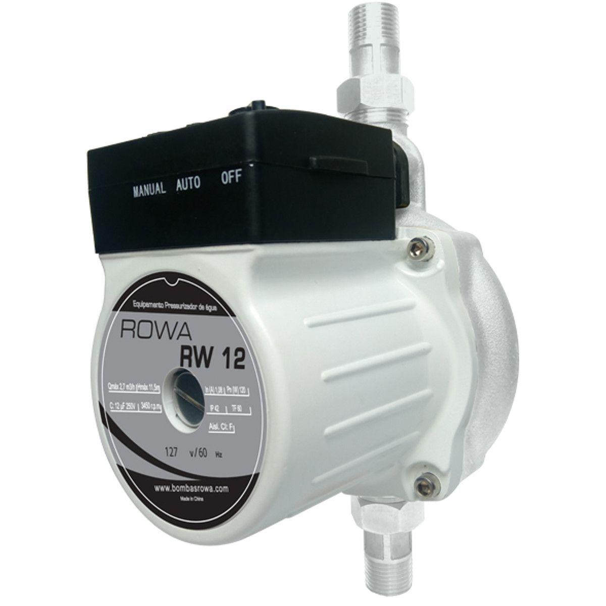 Pressurizador Rowa Mini Rw12 150W Monofásico