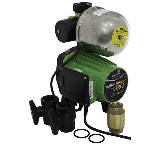 Pressurizador Rowa Tango Press 20E 0,50 Hp Monofásico - Até 4 Banheiros