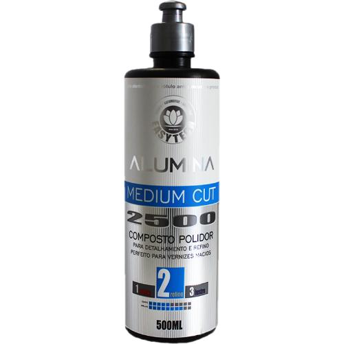 Composto Polidor de Refino Alumina Medium Cut 2500 500ml Easytech