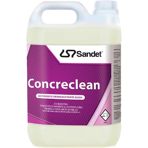 Detergente Desincrustante Ácido Concreclean 5L Sandet