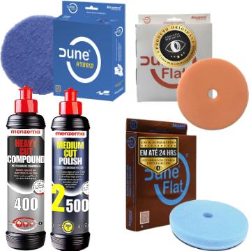Kit de boinas para polimento dune + 400 menzerna 2500