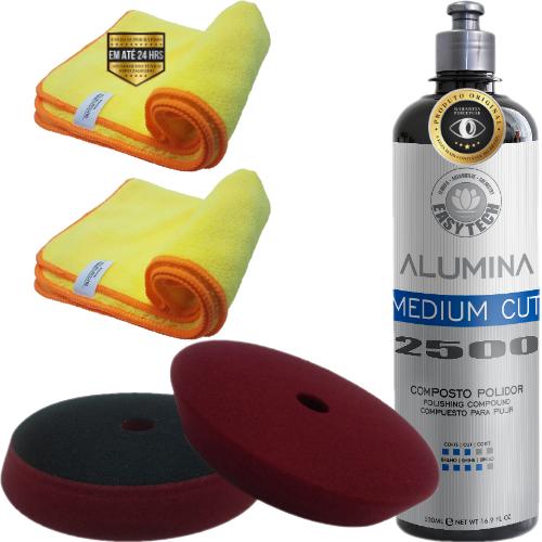 Kit de Polimento Refino 2500 Alumina e Boina Easytech