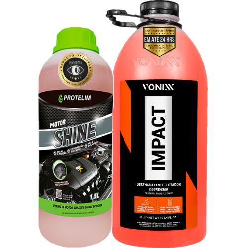 KIt Limpeza e Proteção Rápida de Motor Impact Vonixx