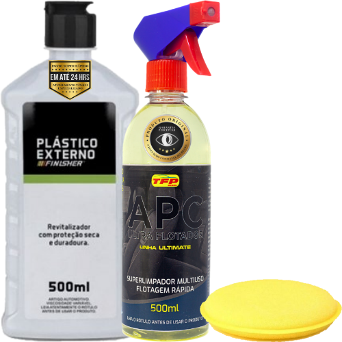 Kit Limpeza e Revitalização de Plástico Externo