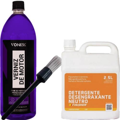 Kit para Limpeza e Proteção de Motor de Motos