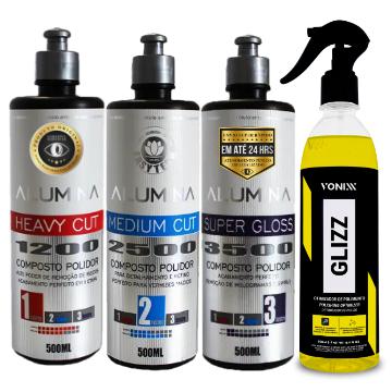 Kit Polimento Completo Alumina Easytech Glixx Vonixx