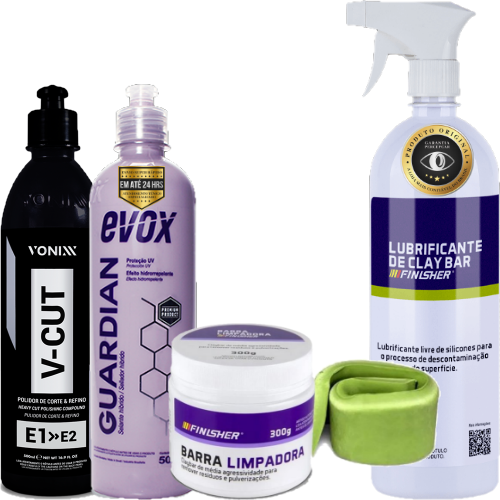 Kit Polimento e Revitalização de Pintura V-Cut Vonixx