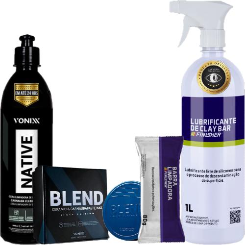 Kit Polimento Manual Remove Riscos Básico Finisher Vonixx