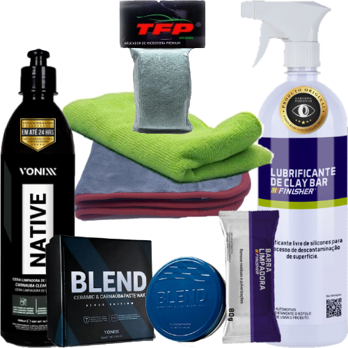 Kit Polimento Manual Remove Riscos Flanelas Finisher Vonixx