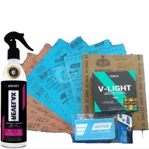 Kit Revitalização de Farol Completo V-Light Vonixx Lixas