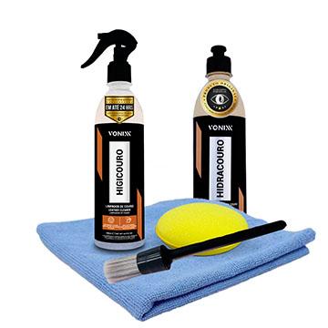 Kit Vonixx p/ Limpar e hidratar banco de couro