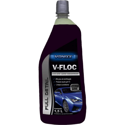 Lava auto super concentrado V-Floc 1,5L - Vonixx