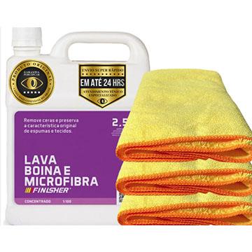 Lava Boina + Flanelas de Microfibras Finisher