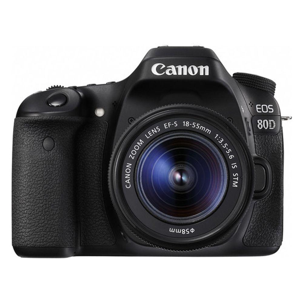 Câmera Canon Eos 80d C/18-55mm F3.5-5.6is Stm