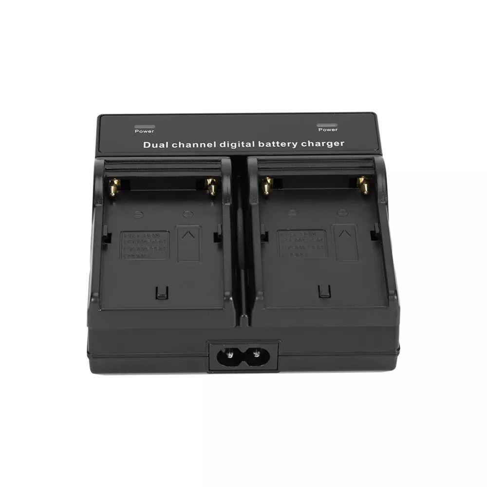 Carregador duplo para bateria tipo Sony F970/F750/F550