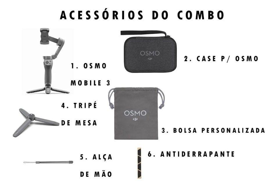 Estabilizador DJI Osmo Mobile 3 Combo
