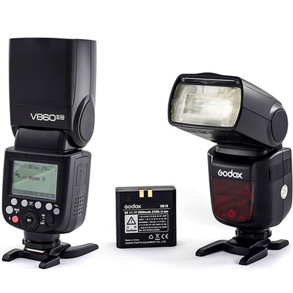 Flash GODOX V860II P/CANON COM BATERIA