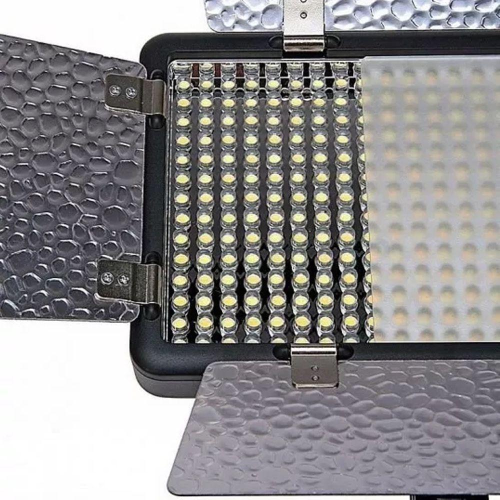 Iluminador de LED Godox 308II 3300-5500k com Fonte