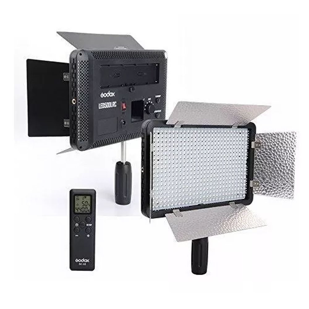 Iluminador de LED Godox 500LRC  3300-5600k com Fonte